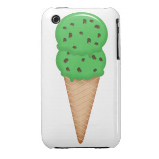 Mint chocolate chip ice cream cone iPhone 3 cover