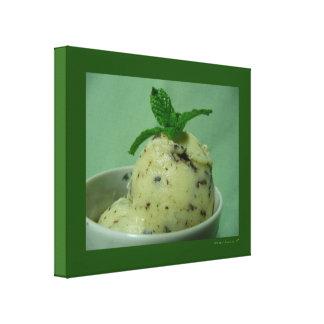 Mint Chocolate Chip Ice Cream Frozen Dessert Canvas Print
