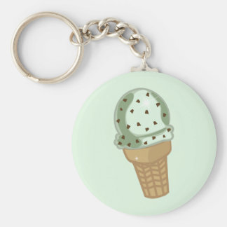 Mint Chocolate Chip Keychain