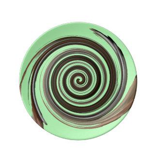 Mint Chocolate Swirl Plate