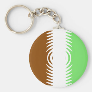Mint Chocolate Vanilla Pattern Basic Round Button Key Ring