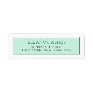 Mint Color Block Minimalist Return Address Label