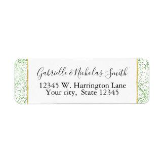 Mint Confetti Dots Return Address Label
