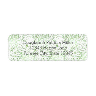 Mint Confetti Dots Return Address Label