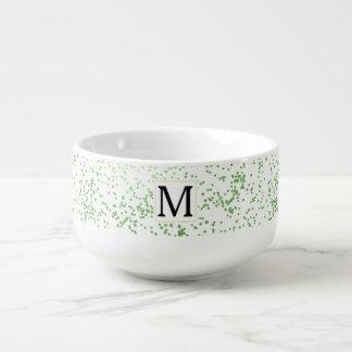 Mint Confetti Monogram Soup Mug