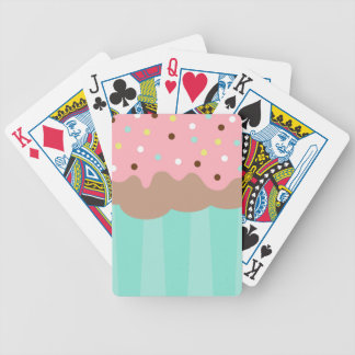 Mint Cupcake Bicycle Playing Cards