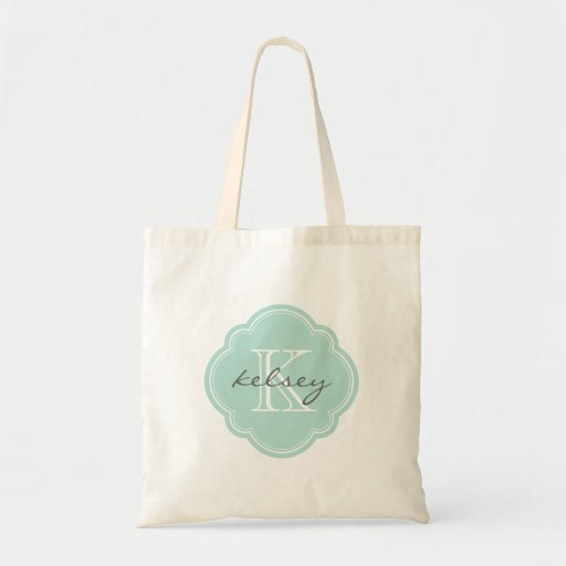 Mint Custom Personalized Monogram Canvas Bags