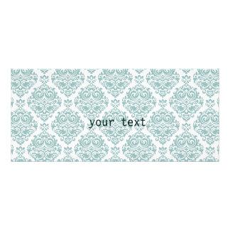 Mint,damask,modern,pattern,girly,trendy,chic,cute, Rack Card