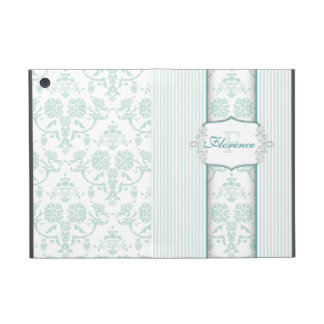 Mint Damask Monogram Case For iPad Mini