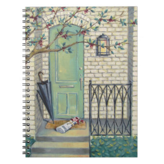 Mint Door & Newspaper Notebook