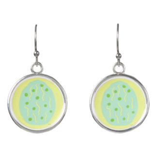 Mint Easter Egg with Dots and Confetti Earrings