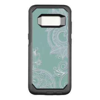 Mint Embossed Style Boho OtterBox Commuter Samsung Galaxy S8 Case