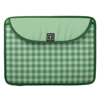 Mint Gingham Sleeve For MacBook Pro
