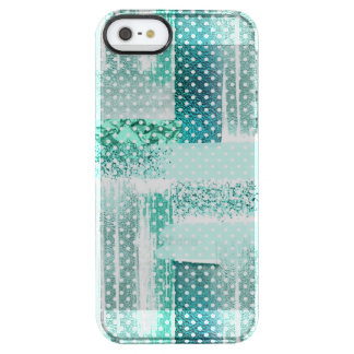 """Mint glamour chick sparkling, """"tiffany blue"""" clear iPhone SE/5/5s case"""
