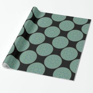 Mint glow moons wrapping paper