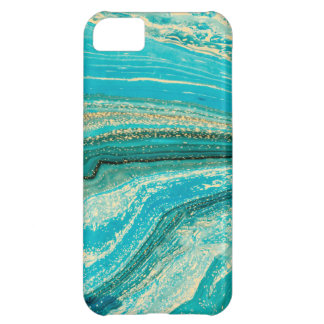 Mint,gold,marble,nature,stone,pattern,modern,chic, iPhone 5C Case