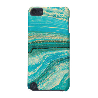 Mint,gold,marble,nature,stone,pattern,modern,chic, iPod Touch 5G Covers
