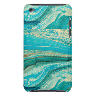 Mint,gold,marble,nature,stone,pattern,modern,chic, iPod Touch Cover