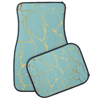 mint,gold,marbled,modern,trendy,chic,beautiful,ele car mat
