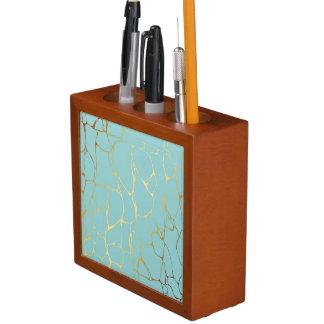 mint,gold,marbled,modern,trendy,chic,beautiful,ele desk organiser