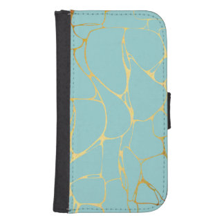 mint,gold,marbled,modern,trendy,chic,beautiful,ele samsung s4 wallet case