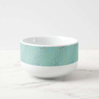 mint,gold,marbled,modern,trendy,chic,beautiful,ele soup mug