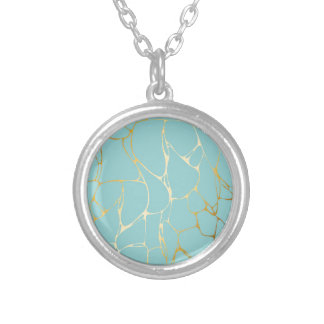 mint,gold,marbled,modern,trendy,chic,beautiful, silver plated necklace