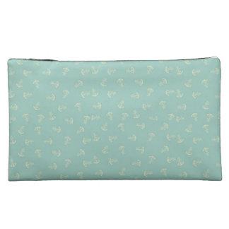 Mint Green Anchor Make Up Bag Makeup Bag