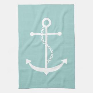 Mint Green Anchor Tea Towel