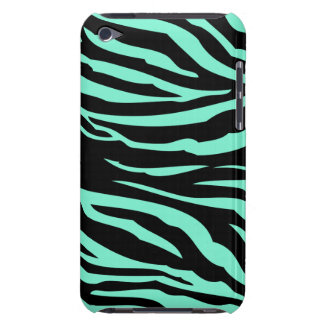 Mint Green and Black Zebra Stripes Case-Mate iPod Touch Case