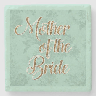 Mint Green and Gold Mother of the Bride Coaster