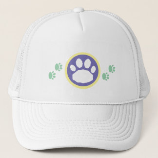 Mint Green and Lilac Paws Animal Lover's Trucker Hat