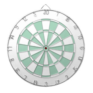 mint green and white dartboard