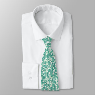 Mint Green And White Glitter Tie