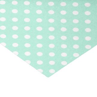 mint green and white polka dots tissue paper
