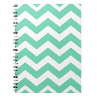 Mint Green and White Zigzags Note Books