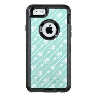 Mint Green Arrows Pattern OtterBox Defender iPhone Case