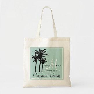Mint Green Beach Wedding Palm Trees Tote Bag