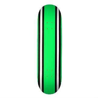 Mint Green Black & White Pinstripe Skateboard Deck