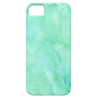 Mint Green Blue Watercolor Texture Pattern iPhone 5 Cover