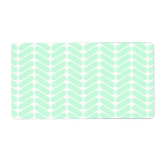 Mint Green Chevron Pattern, like Knitting.