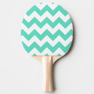 Mint green chevron ping pong paddle