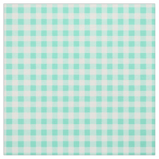 Mint Green Classic Gingham Checked Pattern Fabric