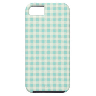 Mint Green & Cream Checked Gingham Phone Case
