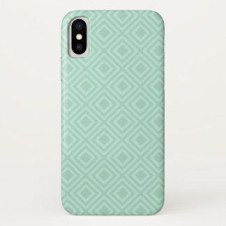 Mint Green Diamond Pattern IPhone Case