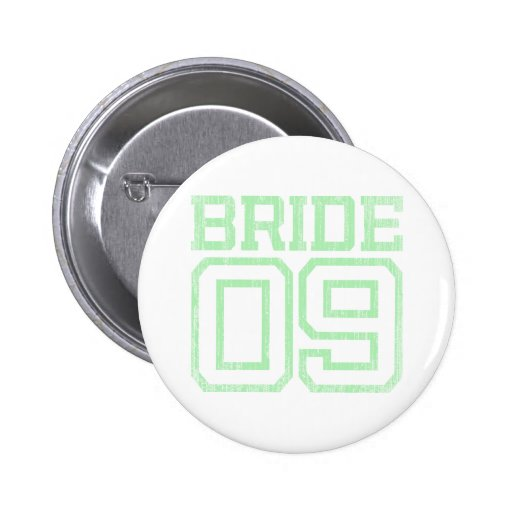 Mint Green Distressed Bride 09 Button