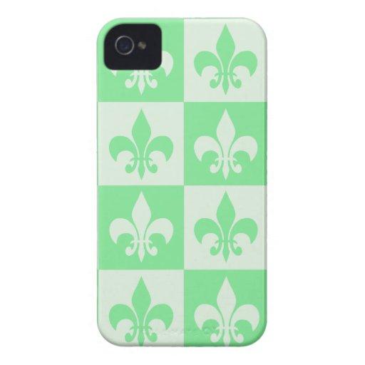 Mint Green Fleur de lis iPhone 4 Cases