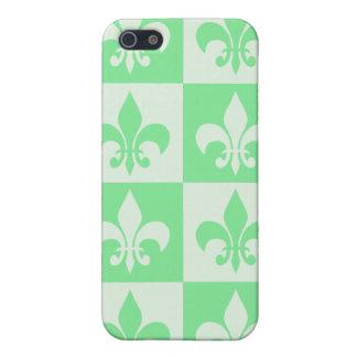 Mint Green Fleur de lis iPhone 5/5S Case