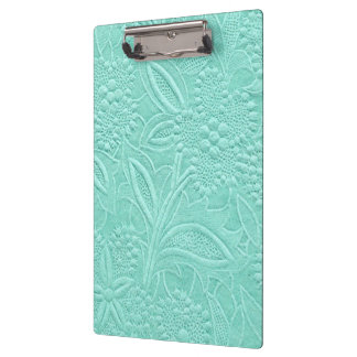 Mint Green Floral Clipboard