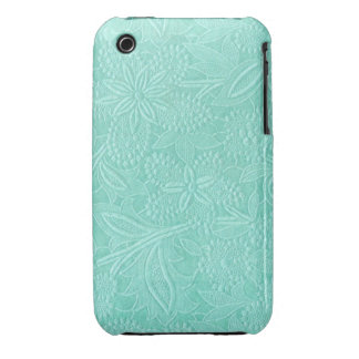 Mint Green Floral iPhone 3 Case-Mate Case